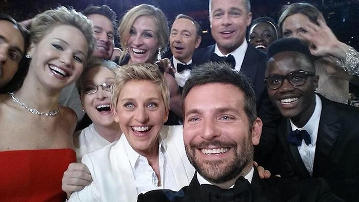 Фотограф Ellen Degeneres, церемония Оскар, март 2014 года.