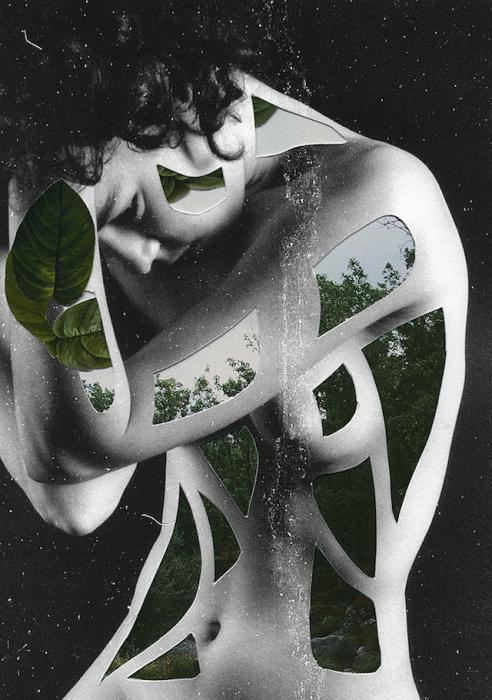 Сюрреалистические коллажи от испанской художницы.