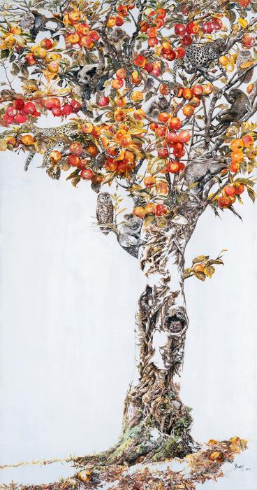 Опьяненный осенью - работа китайского художника Zhao Na.