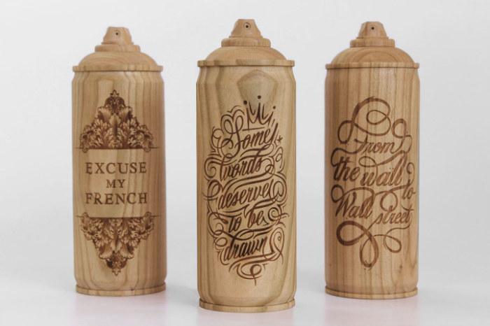 Декоративные деревянные баллоны от Тибо Малет (Thibaut Malet) и Zics.