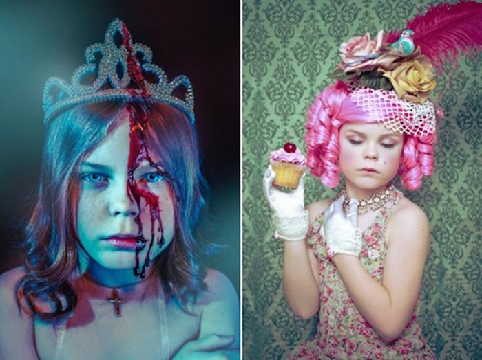 Потрясающие фотоснимки Келли Льюис (Kelly Lewis) и ее девятилетней дочери.