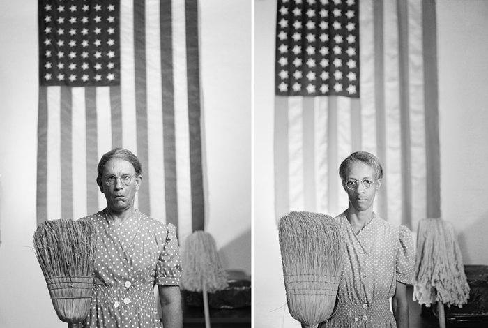 Сандро Миллер, Гордон Паркс / Американская готика, Вашингтон, округ Колумбия (1942 год), 2014 год.