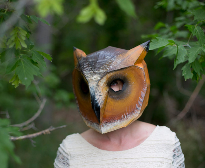 Маска совы от Steve Wintercroft.