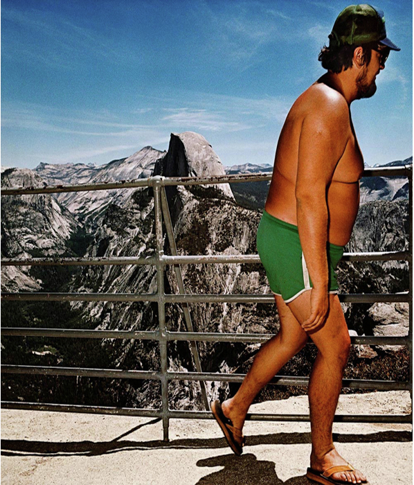Человек на Glacier Point, Национальный парк Йосемити, Калифорния, 1980 год.