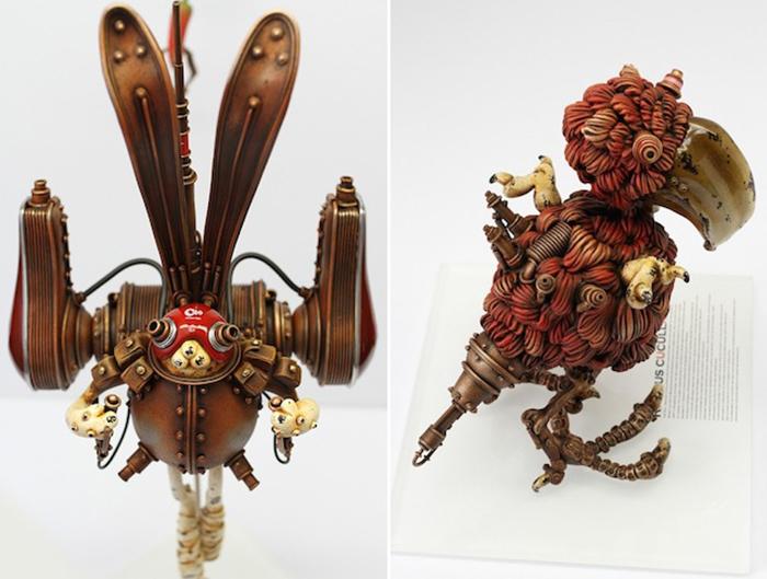 Коллекция игрушек в стиле стимпанк от японского скульптора.