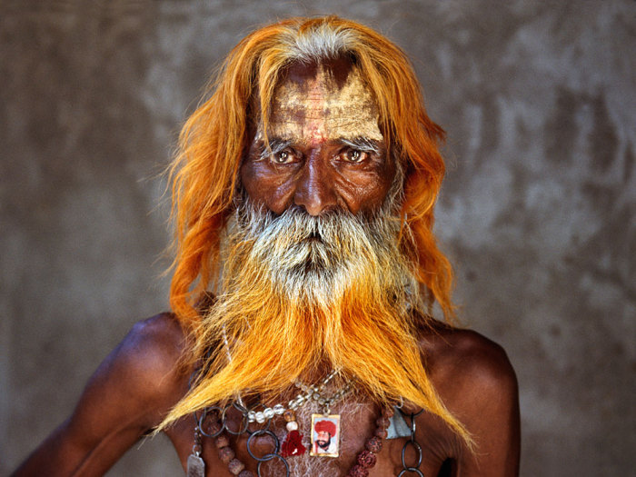 Удивительный портрет местного жителя Индии от Стива Мак-Карри (Steve McCurry).