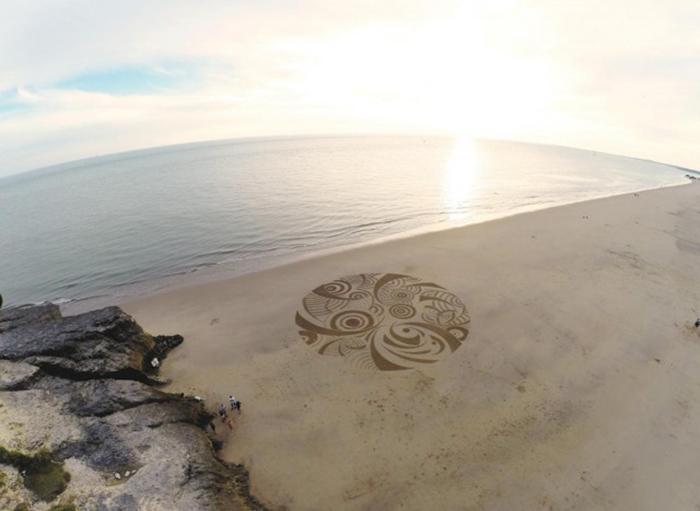 Впечатляющая живопись на песке от Бенджамина Джахана (Benjamin Jehan).