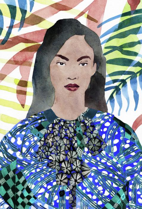 Картина Женщина от американского художника Марселя Джорджа (Marcel George).