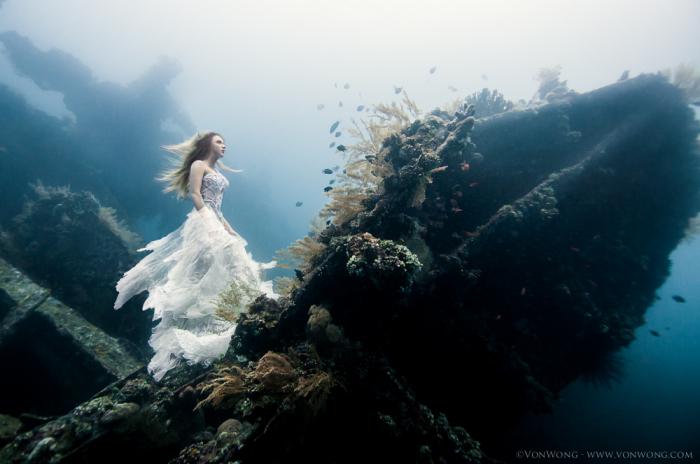 Сюрреалистические подводные снимки от Benjamin Von Wong.