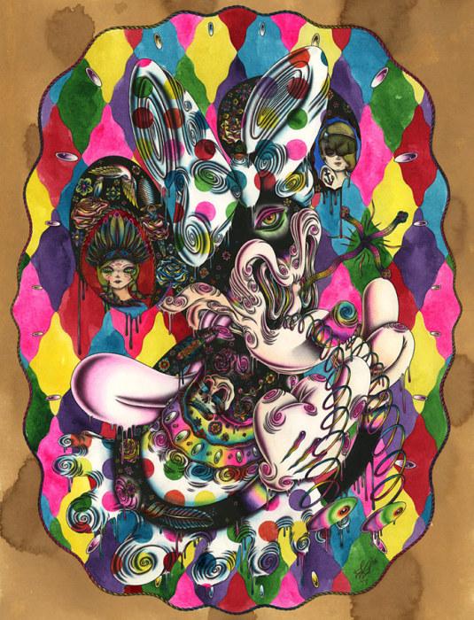 Картина под названием Lysergic Acid Minnie.