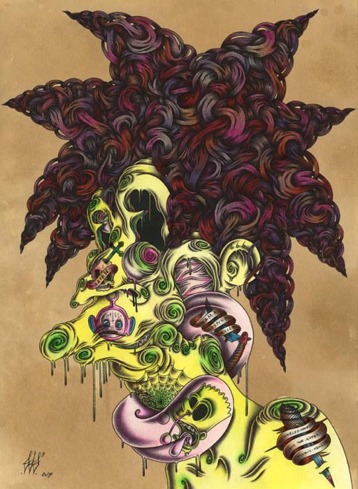 Иллюстрация под названием Pyscho Bob.