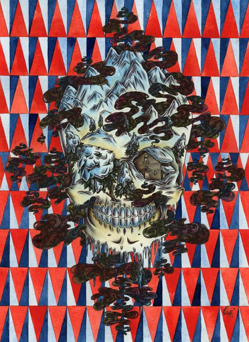 Картина Skull Snow.