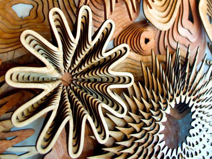 Удивительная многослойная скульптура из дерева от Джошуа Абарбанель (Joshua Abarbanel).