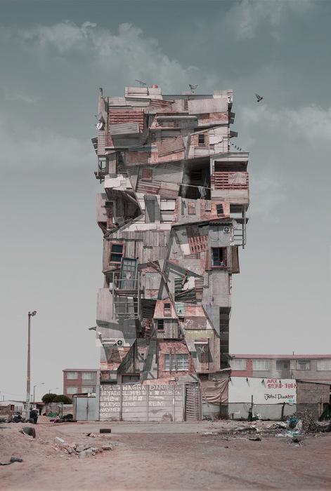 Вымышленные архитектурные пейзажи от Джастина Планкета (Justin Plunkett).