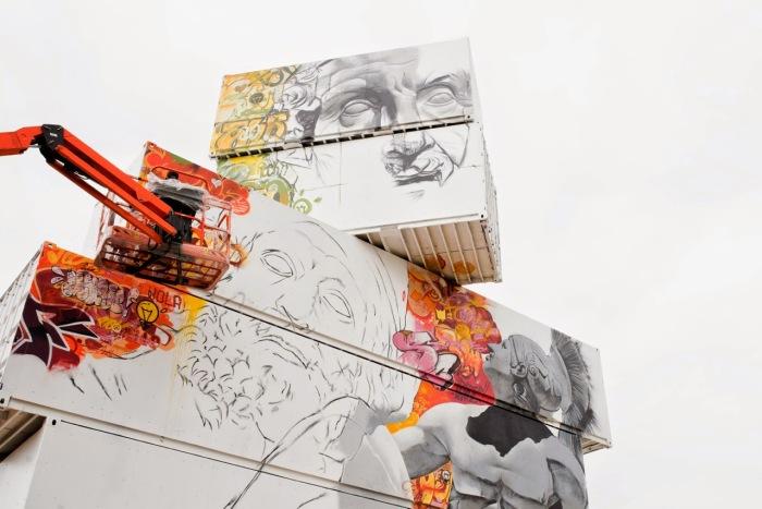 Необычный арт-проект для фестиваля уличного искусства в Бельгии.