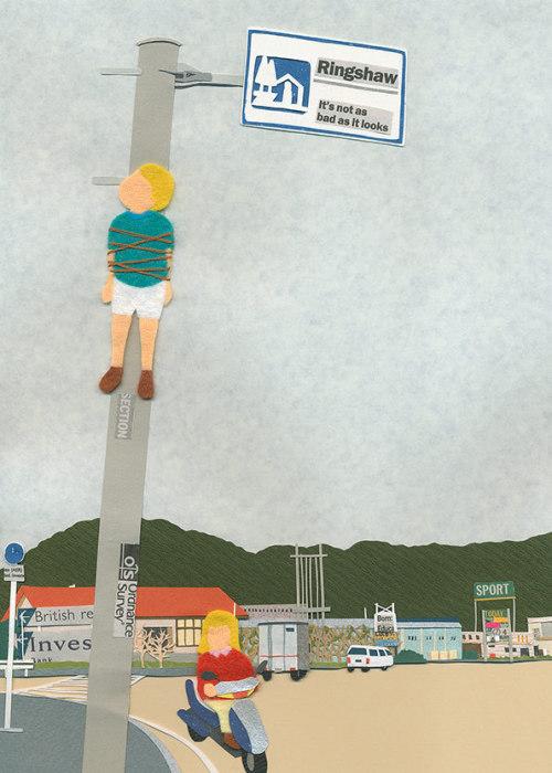 Забавные и слегка пугающие работы Takeru Toyokura.