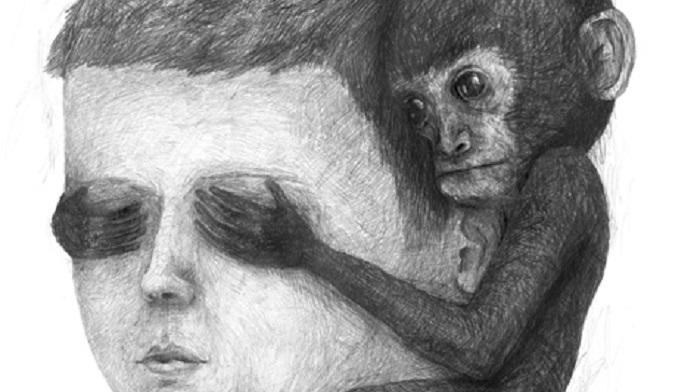 Сюрреалистический портрет мальчика и его мыслей от Stefan Zsaitsits.