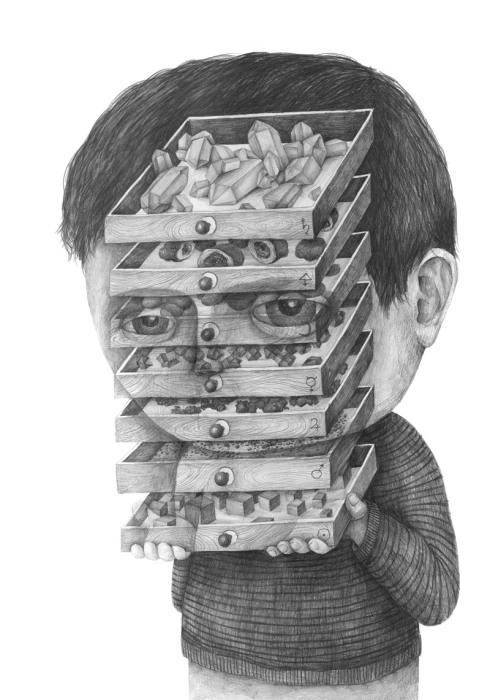 Необычный графитовый портрет от Stefan Zsaitsits.