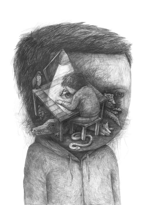 Необычная монохромная зарисовка от Stefan Zsaitsits.