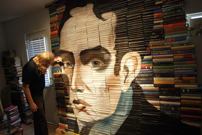 Оригинальный портрет на обложках книг от Майка Стилки (Mike Stilkey).