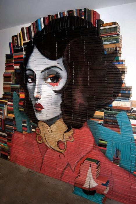 Женский портрет от американского художника Майка Стилки (Mike Stilkey).