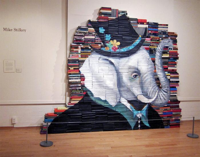 Ироничный портрет слона в шляпе от Майка Стилки (Mike Stilkey).