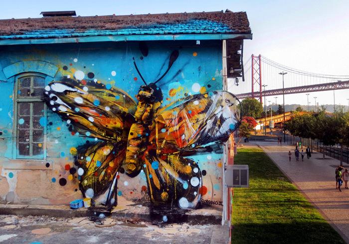 Красочные работы уличного художника из Португалии Bordalo II.