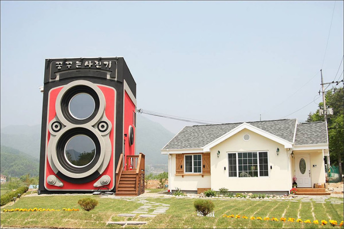 Оригинальный дизайн кафе в Южной Кореи.