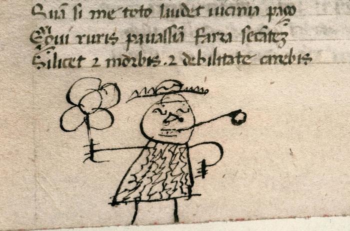 Каракули, оставленные древними учениками на страницах своих учебников.
