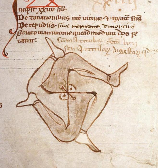 Бессмысленные каракули на страницах древних рукописей.
