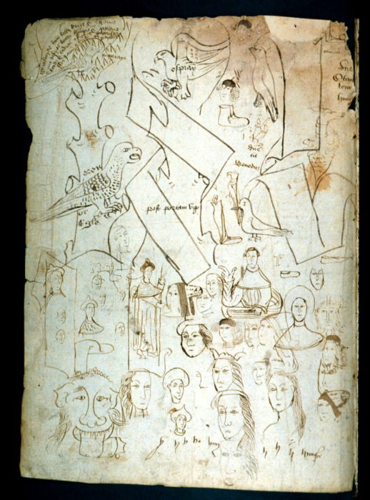 Пример исписанной последней станицы в древней книге.