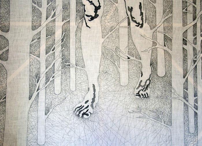 Черно-белая работа Nastasja Duthois.