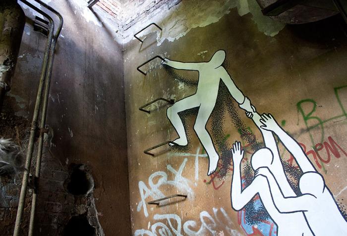 Оригинальное граффити в исполнении Daan Botlek.