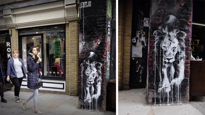 Картины Faith47 на городских улицах.