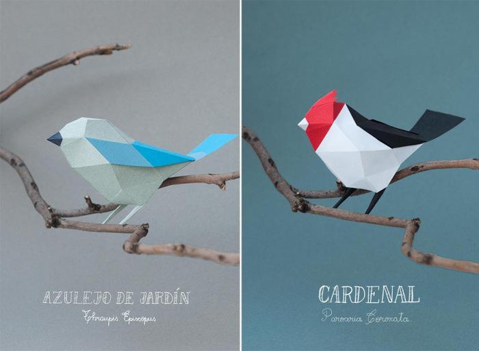 Геометрические бумажные скульптуры от Estudio Guardabosques.