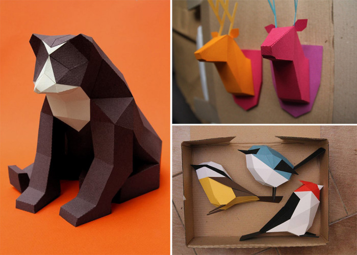 Животный мир в бумаге от дизайн-студии Estudio Guardabosques.