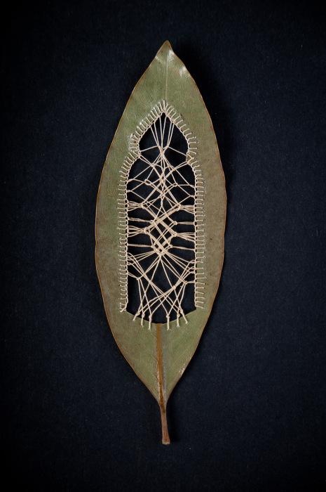 Оригинальные поделки из сухих листьев от Хилари Фэйл (Hillary Fayle).