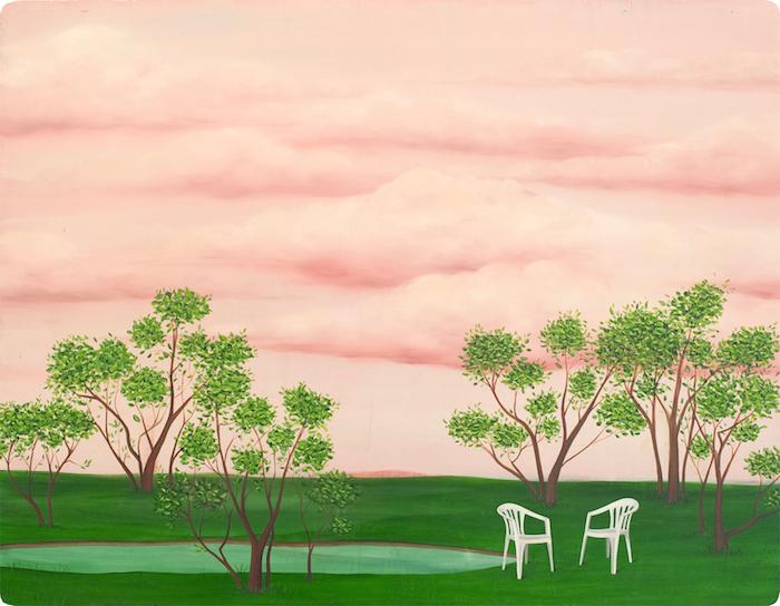 Зефирно-розовое небо в сюрреалистической картине Мари Роузен (Marie Rosen).