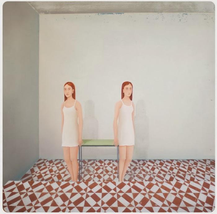 Близнецы - излюбленная тема талантливой художницы из Брюсселя.