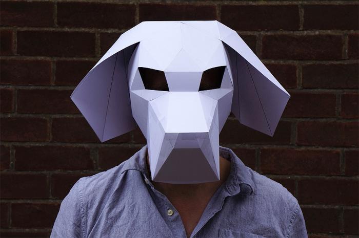 Забавная геометрическая маска от Steve Wintercroft.