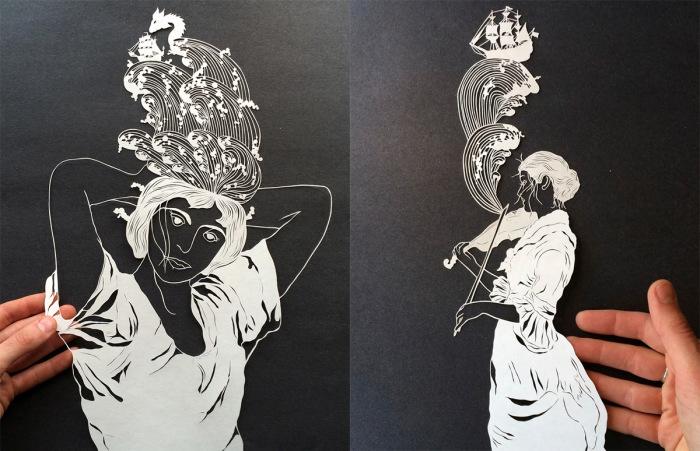 Сложные бумажные скульптуры от Мод Уайт (Maude White).
