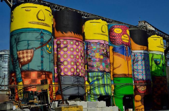 Масштабный красочный проект от Os Gemeos.