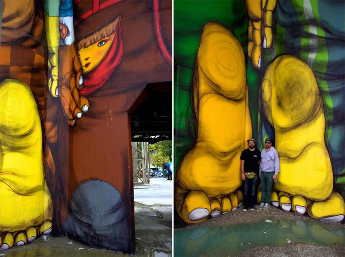 Красочная работа бразильских братьев-близнецов.