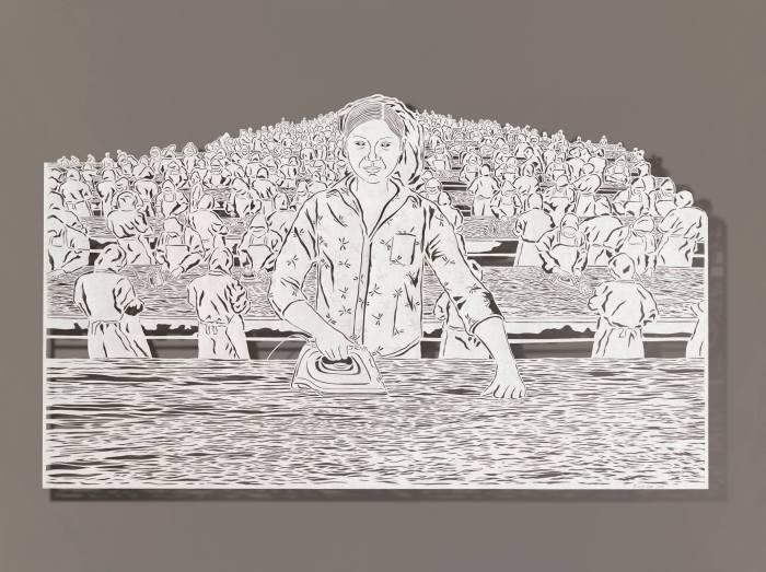 Картина, вырезанная из тонкой рисовой бумаги, от китайской художницы Бови Ли (Bovey Lee).