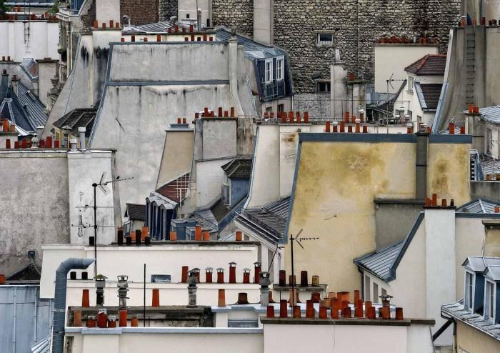 Абстрактные композиции, составленные из крыш парижских городских построек.