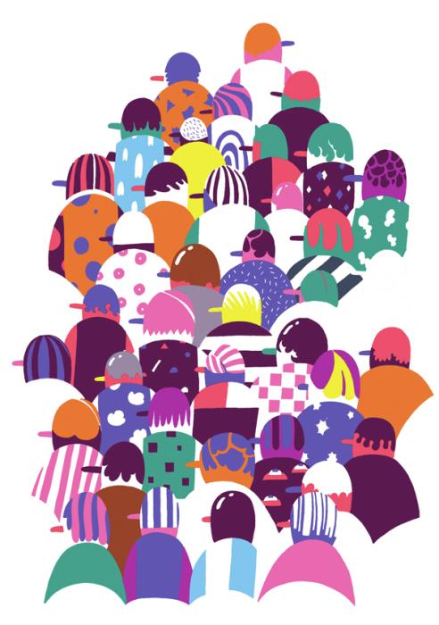 Красочные постеры от Элин Ван Дам (Eline Van Dam).