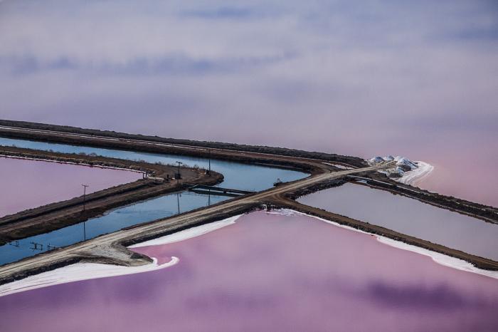 Впечатляющие снимки соляных прудов в Сан-Франциско от Джулиана Коста (Julieanne Kost).