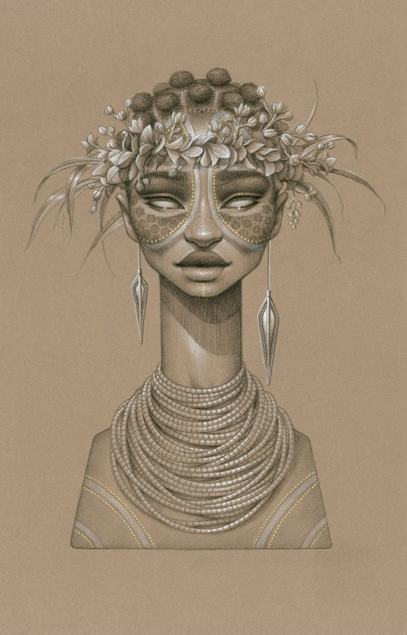 Необычные портреты вымышленных богинь от Сары Голиш (Sara Golish).