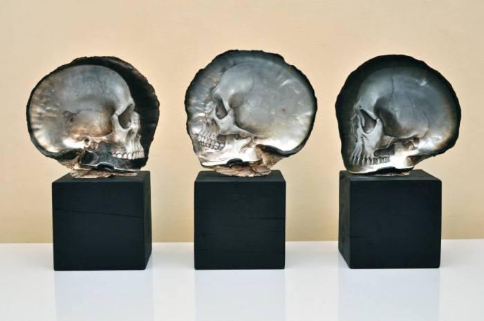 Перламутровые черепа от Грегори Халили (Gregory Halili).