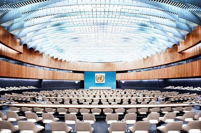 Зал заседаний XIX, ООН, Женева.